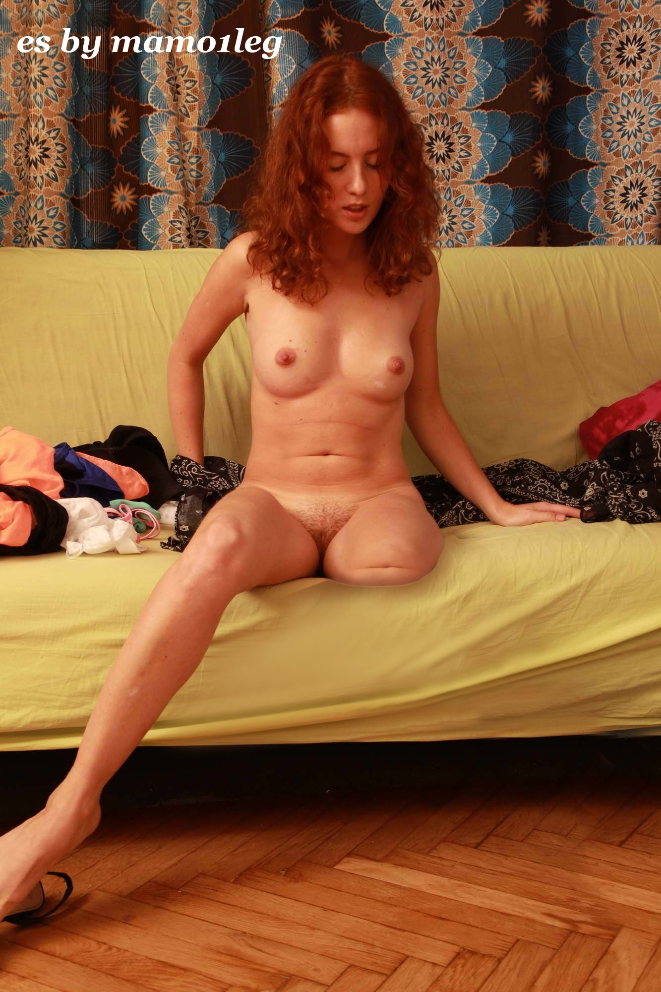 Auburn haired milf shows off her already we dessert
